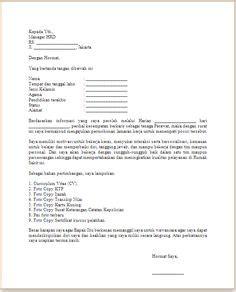 contoh surat lamaran kerja sopir ben contoh