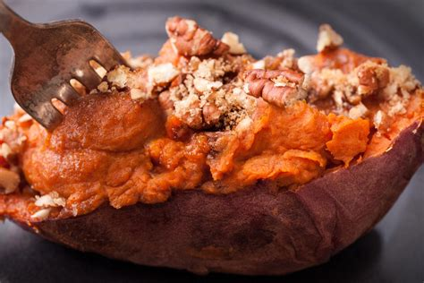 twice baked sweet potatoes recipe dishmaps