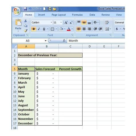 How To Create A Sales Forecast In Excel Free Excel Sales Forecasting Template Free Sales Forecast Template