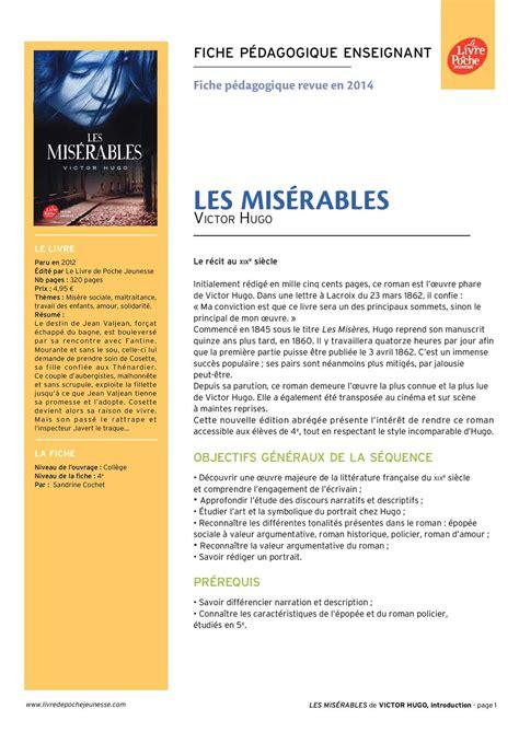 les miserables 2 folio calam 233 o les mis 233 rables texte abr 233 g 233 ressource p 233 dagogique