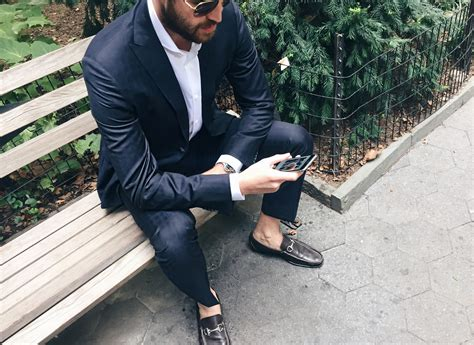 driving loafers with suit