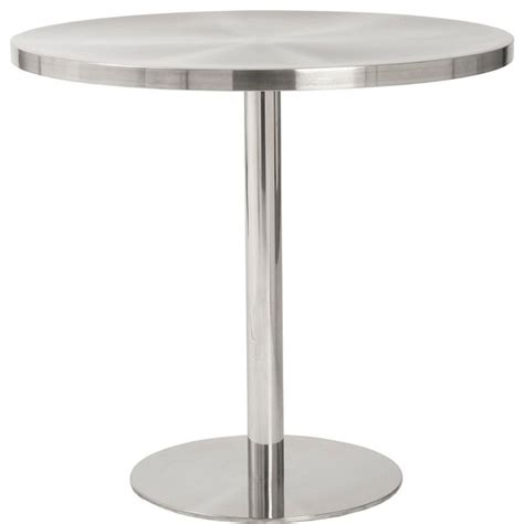 Stainless Steel Bistro Table Caitlin Bistro Table In Stainless Steel Finish Modern Indoor Pub And Bistro Tables By