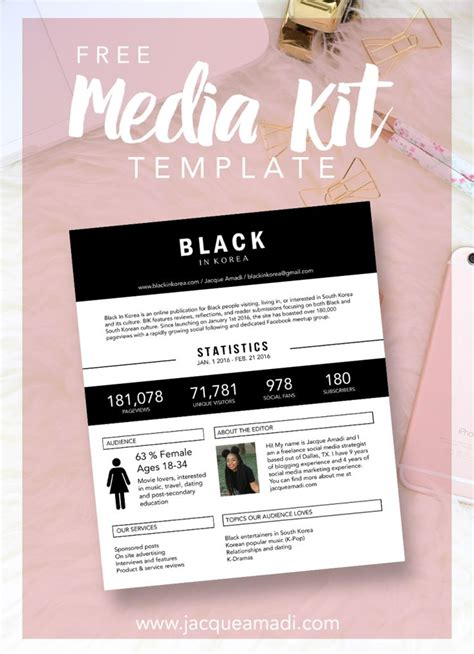 25 unique media kit template ideas on pinterest media