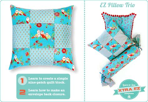 Pillow Patches by Xtra Ez Nine Patch Pillow Learn To Sew Sew4home