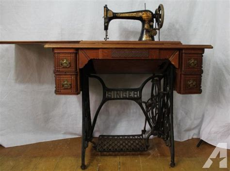 antique singer sewing machine in cabinet antique 1896 model 27 singer treadle sewing machine in