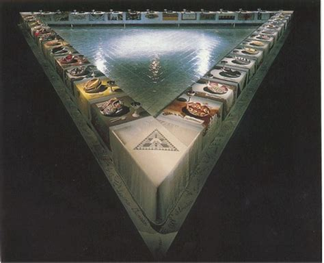 judy chicago dinner the dinner judy chicago wikiart org
