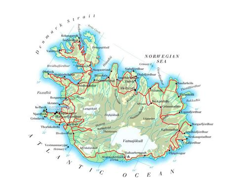 map of attractions maps update 600374 tourist attractions map in iceland