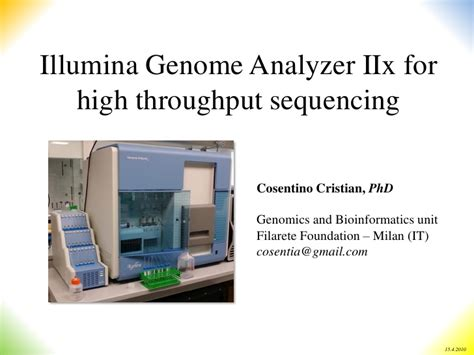 illumina genome analyzer iix illumina gaiix for high throughput sequencing