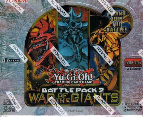 Yugioh Booster Battle Pack 2 War Of The Original yugioh battle pack 2 war of the giants booster box 1st