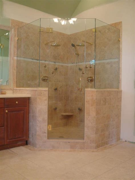 bathroom glass shower ideas master showers without glass this neo angle shower door is for that corner shower in