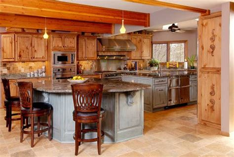 knotty wood kitchen cabinets 10 rustic kitchen designs with unfinished pine kitchen