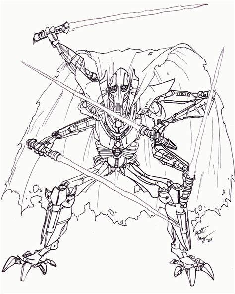 General Grievous Coloring Pages general grievous coloring page az coloring pages