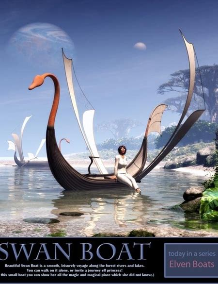 Tutorial Poser Plus Content Bundle swan boat