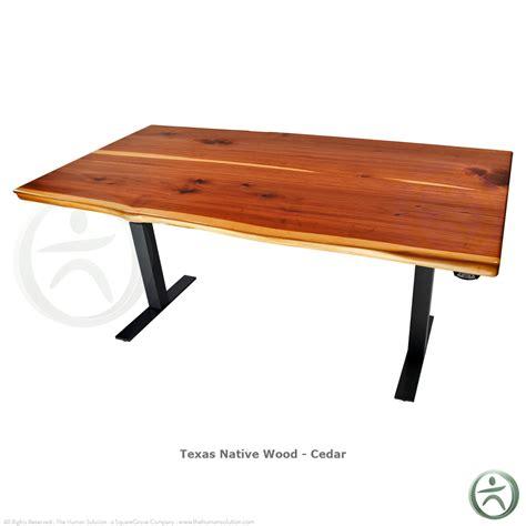 sit stand desk wood uplift 700 solid wood electric sit stand desk shop