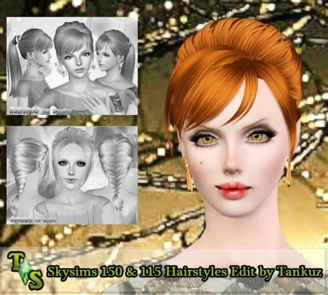 small ponytail hairstyle 228 by skysims sims 3 hairs the sims 3 ponytail and braid with bangs hairstyle skysims