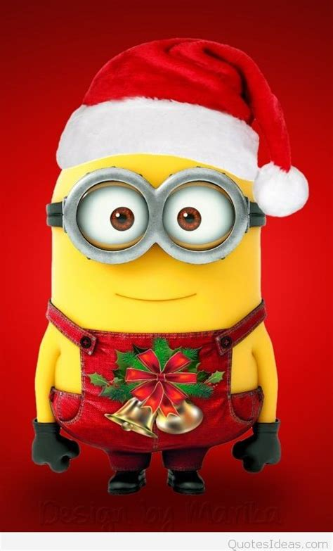 funny minion merry christmas wallpapers sayings