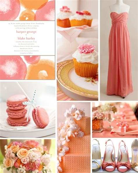 colour themes peach coral wedding theme ideas weddings by lilly