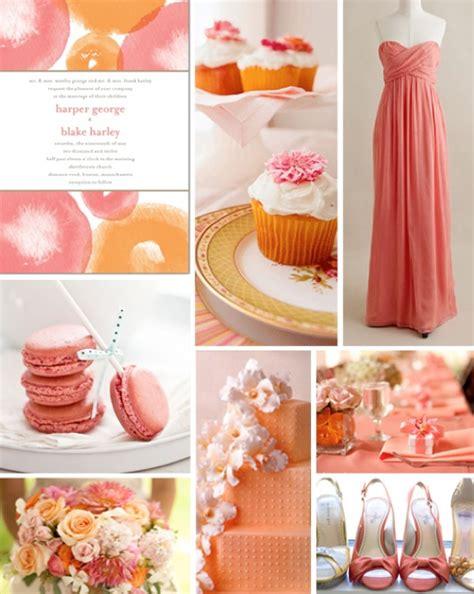 coral wedding theme ideas weddings by lilly