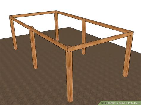 pole barn post spacing and size tables 3 ways to build a pole barn wikihow