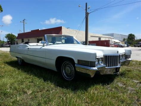 1970 Cadillac 2 Door by Sell Used 1970 Cadillac Base Convertible 2 Door 7 7l In Florida United States