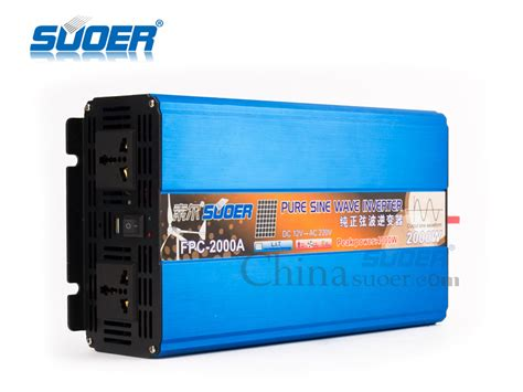 Power Inverter Charger 2000w Suoer 12v 220v 2000w Solar System Home suoer high performance solar power inverter 2000w dc 12v ac 220v sine wave inverter view