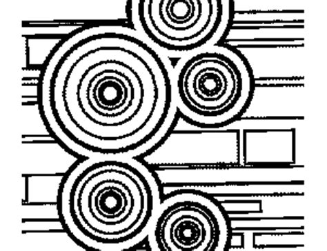 abstract circle coloring page circles and rectangle design coloring page