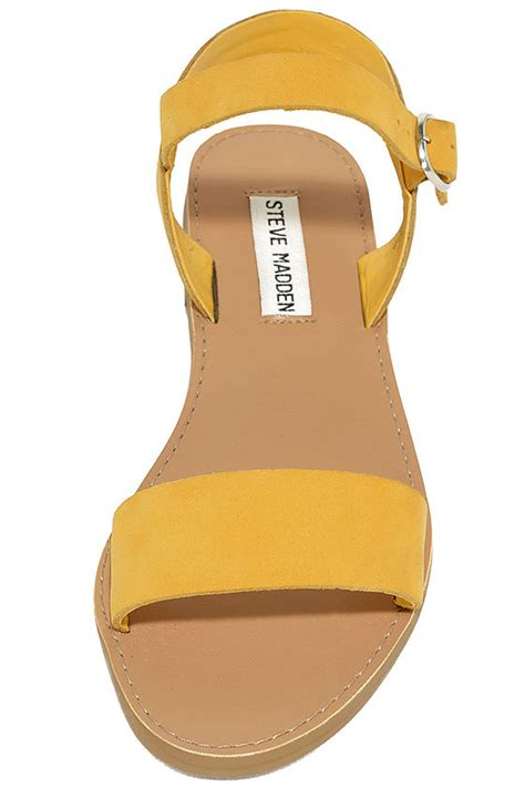 flat yellow sandals yellow sandals leather sandals flat sandals 59 00
