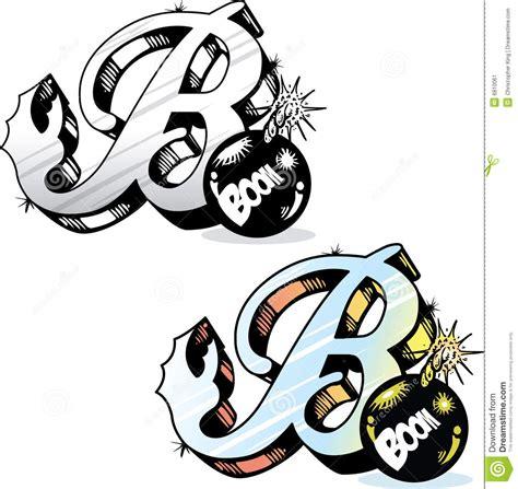 stile lettere per tatuaggi lettera b di stile tatuaggio immagine stock immagine