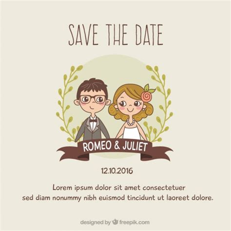 Wedding Invitation Design Freepik by Wedding Invitation Template Vector Free