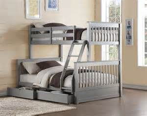 gray bunk beds ii gray finish bunk bed