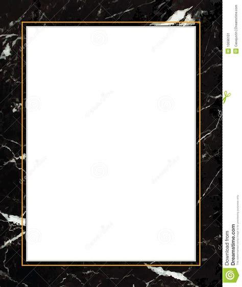 Elegant Floor Plans black marble frame gold trim stock image image 10696101