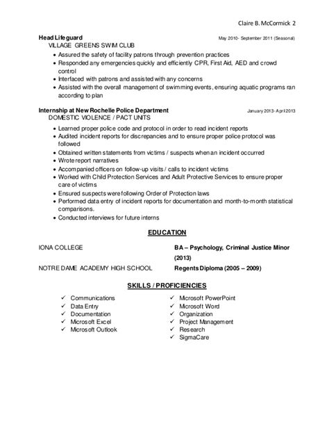 lifeguard cover letter resume without cover letter