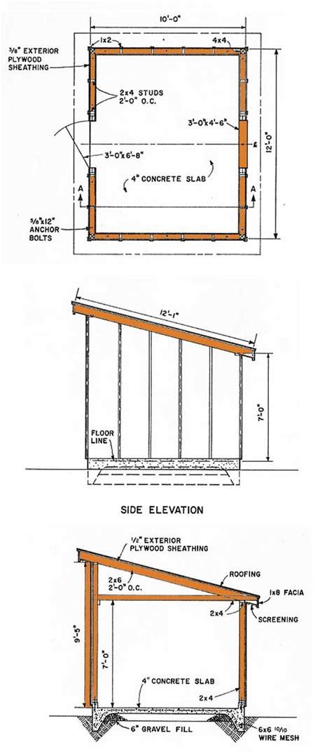 store blueprints 10 215 12 lean to storage shed plans storage pinterest