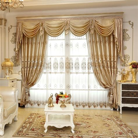 embroidered luxury window curtains  living living