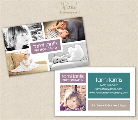photography business card template photoshop the album cafe photoshop templates tami lantis