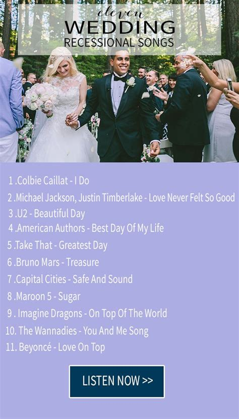 Wedding Ceremony Playlist by The 25 Best Recessional Songs Ideas On