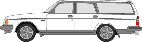 1992 volvo 240 template colored by swiftysgarage on deviantart