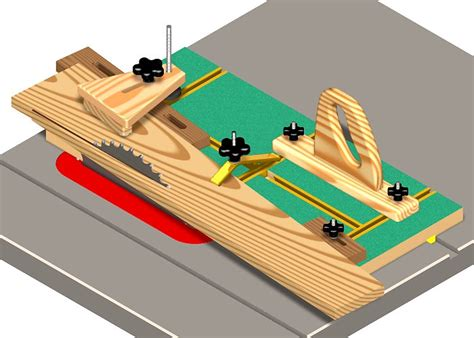 table saw angle jig free woodworking jig plans