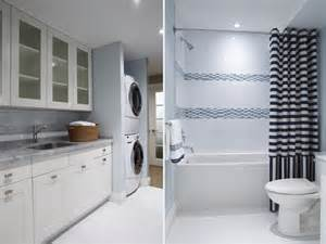 Laundry Room In Bathroom Ideas by Makeover Home To Flip Basement Laundry And Bathroom