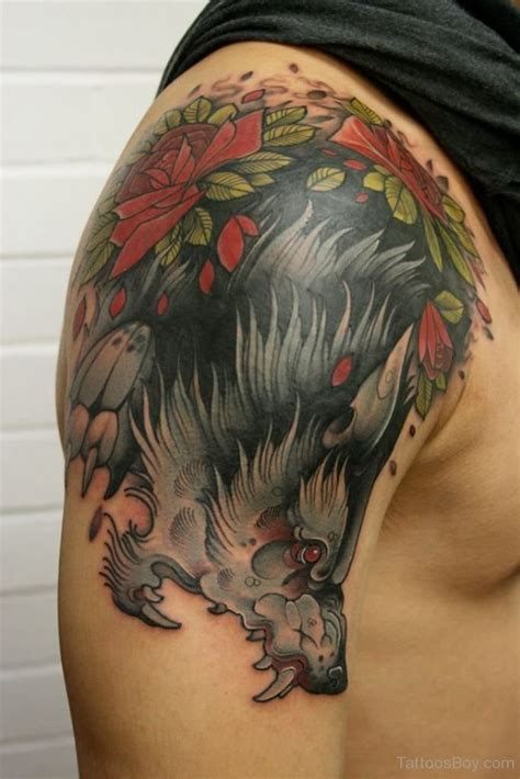 tattoo designs for men on shoulder wolf tattoos designs pictures