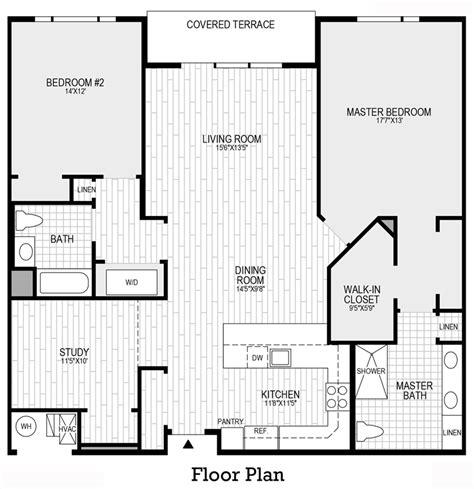 den floor plan 410 at society hill the 2 bedroom 2 bath home design