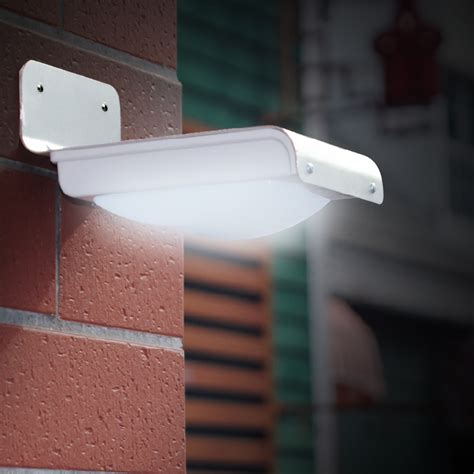 Lu Led Solar Motion Detection 100lm solar led pir motion sensor wall light security l le
