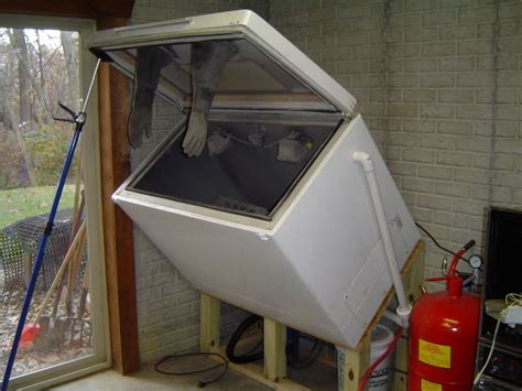 How To Make A Blast Cabinet by Sandblast Cabinet Diy Sandblasting Cabinet