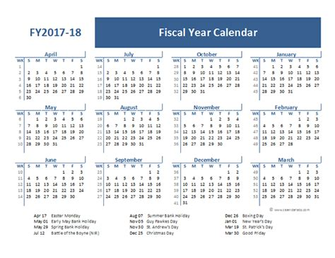 fiscal year calendar template 21 free calendar template 2016 2017 2018 for word and excel