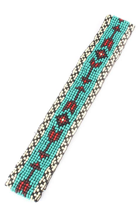 beaded headband patterns arrow pattern seed bead headband hair accessories