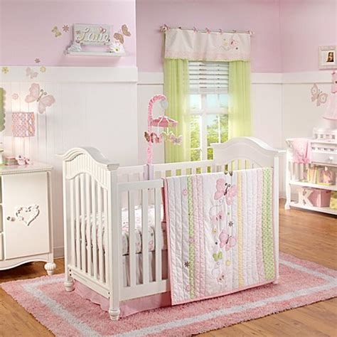 nojo 174 butterfly 4 crib bedding set bed bath