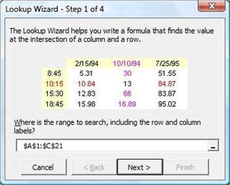 find cell values easily using excel s lookup wizard cnet
