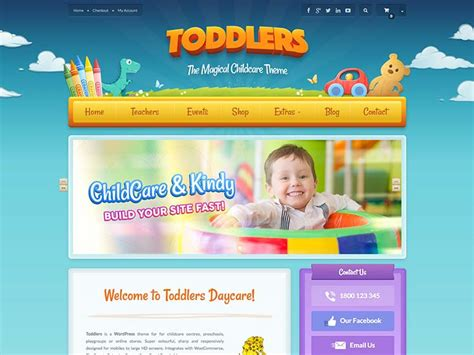 15 Best Wordpress Daycare Themes For 2018 Siteturner Playgroup Website Templates