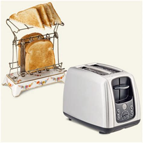 Home Goods Toaster 1908 Ge Appliances Electric Toaster In Use Toasting Two
