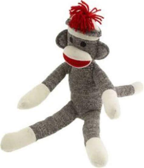 sock monkey large original rockford heel sock monkey socks doll